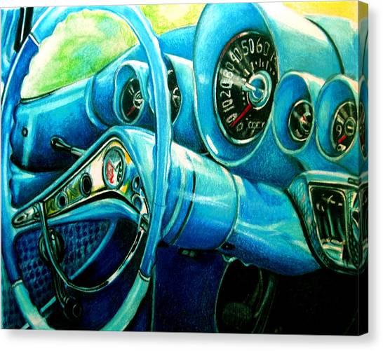 Houndstooth Canvas Print by Kathleen Bischoff
