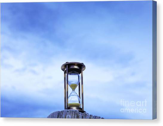 Hourglass Blue Sky Canvas Print by Colin and Linda McKie