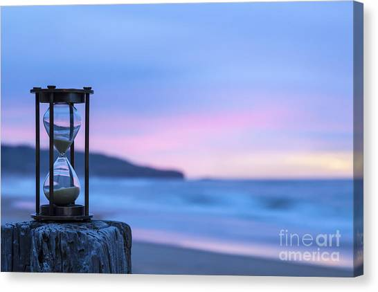 Hourglass Twilight Sky Canvas Print