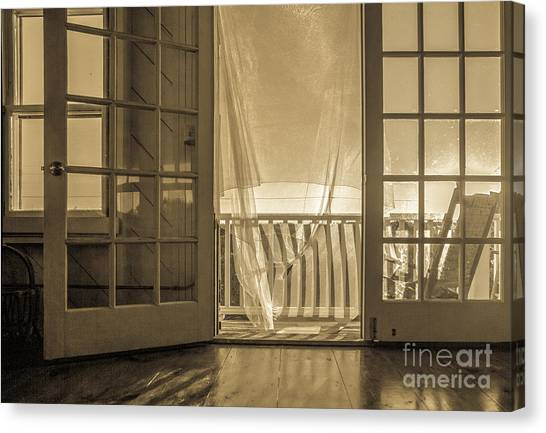 Open Door Canvas Print - House At The Beach by Diane Diederich