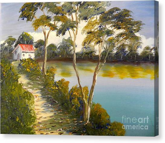 House By The Lake Canvas Print