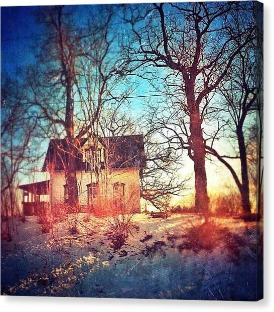 House Canvas Print - #house #home #old #farm #abandoned by Jill Battaglia