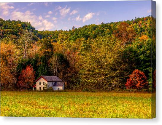 House In The Cove Canvas Print by E Mac MacKay