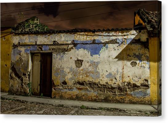 House In The Middle Canvas Print by Christian Santizo