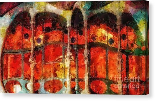 T-bone Canvas Print - House Of Bones by Mo T