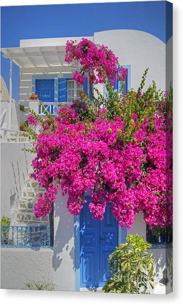 House Of Bougainvillea Canvas Print
