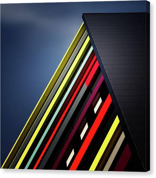Colour Canvas Print - House Of Colours by Jeroen Van De