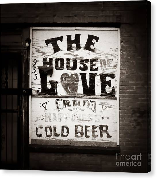 House Of Love Memphis Tennessee Canvas Print