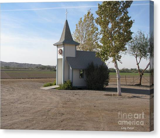 House Of The Lord Canvas Print by Greg Patzer