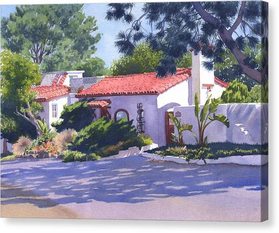 Mars Canvas Print - House On Crest Del Mar by Mary Helmreich
