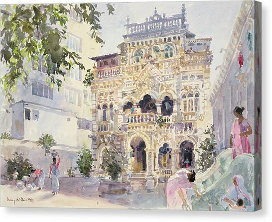 Fine Art India Canvas Print - House On The Hill, Bombay by Lucy Willis