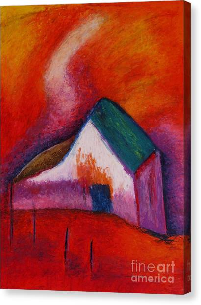 House On The Hillside Canvas Print