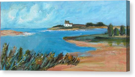 House On The Point Canvas Print