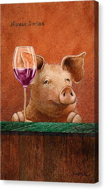 House Swine... Canvas Print