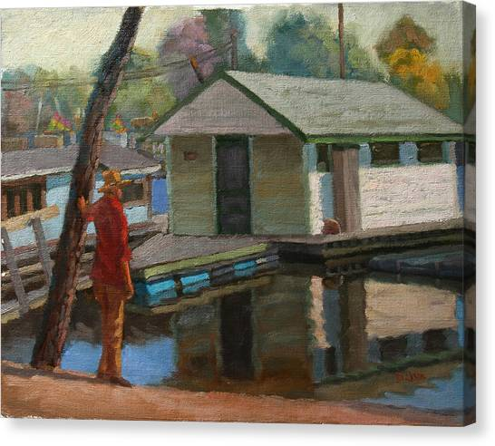 Houseboat On The Mississippi Canvas Print