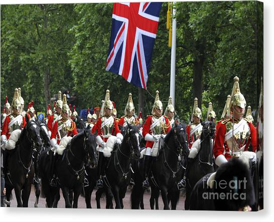 Royal Guard Canvas Print - Household Cavalry Life Guards by James Brunker