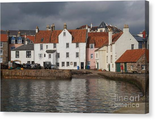 Houses At Pittenweem Harbor Canvas Print