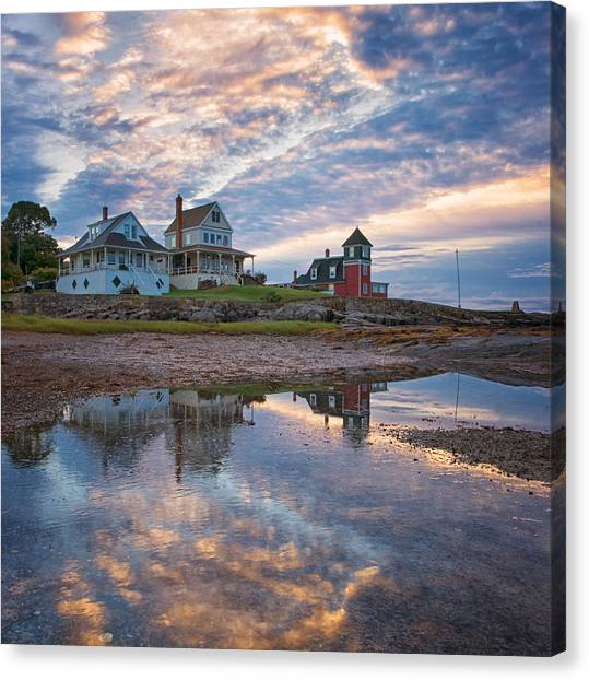 Houses By The Cribstone Canvas Print