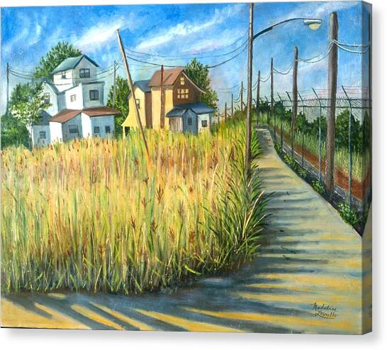 Houses In The Weeds Canvas Print