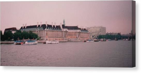 Parliament Canvas Print - Houses Of Parliament From The Thames London England by Lisa Travis