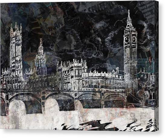 Tony Stewart Canvas Print - Houses Of Parliament by Lauren Caldwell