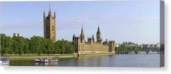 Palace Of Westminster Canvas Print - Houses Of Parliament by Peter Scoones/science Photo Library