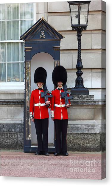 Royal Guard Canvas Print - Housing Shortages by James Brunker