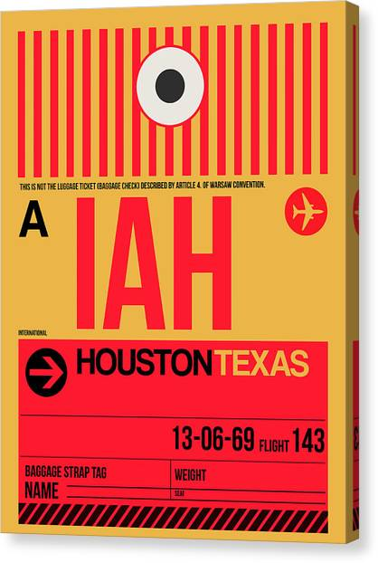 Houston Canvas Print - Houston Airport Poster 1 by Naxart Studio