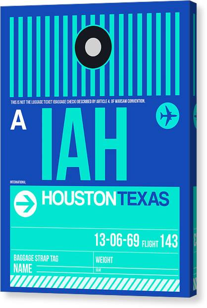 Houston Canvas Print - Houston Airport Poster 2 by Naxart Studio