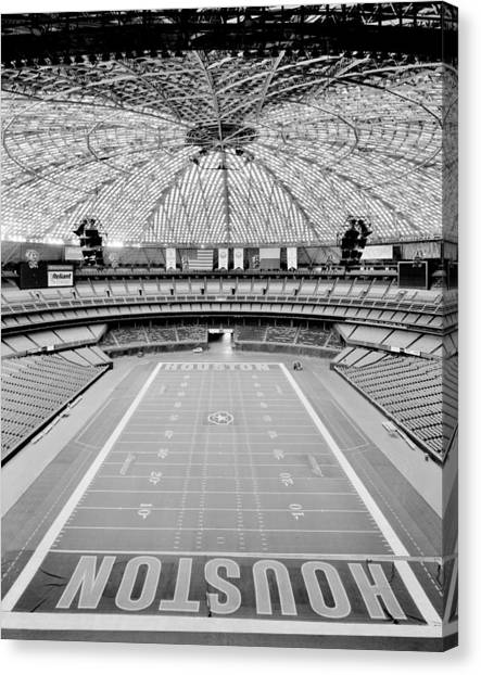 Houston Astros Canvas Print - Houston Astrodome by Benjamin Yeager