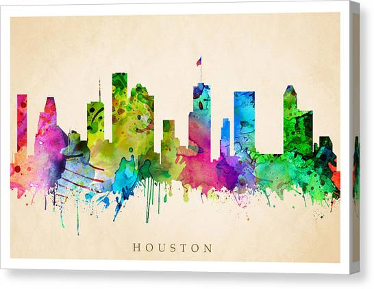 Houston Cityscape Canvas Print