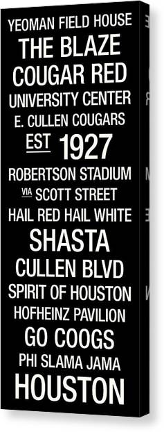University Of Houston Canvas Print - Houston College Town Wall Art by Replay Photos