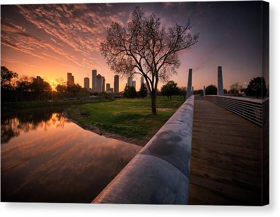 Houston Dawn Canvas Print