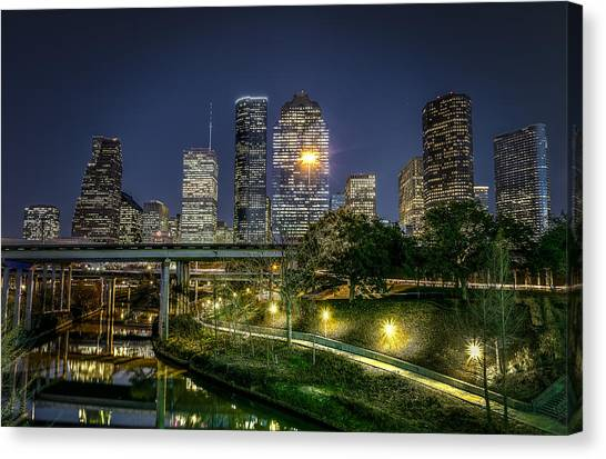 Houston On The Bayou Canvas Print