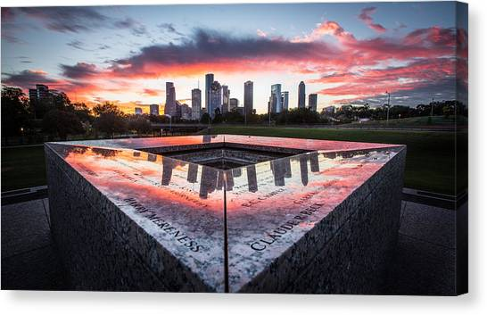 Houston Police Memorial Canvas Print