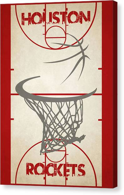 Houston Rockets Canvas Print - Houston Rockets Court by Joe Hamilton
