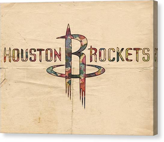 Houston Rockets Canvas Print - Houston Rockets Poster Art by Florian Rodarte