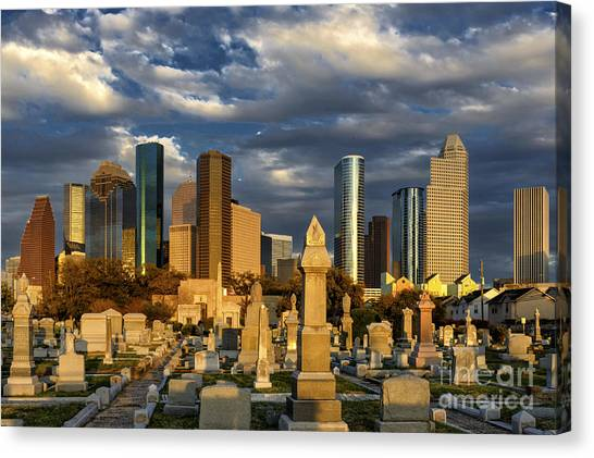 Houston Sunset Skyline Canvas Print