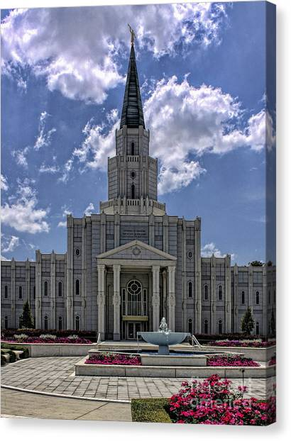 Houston Temple Canvas Print