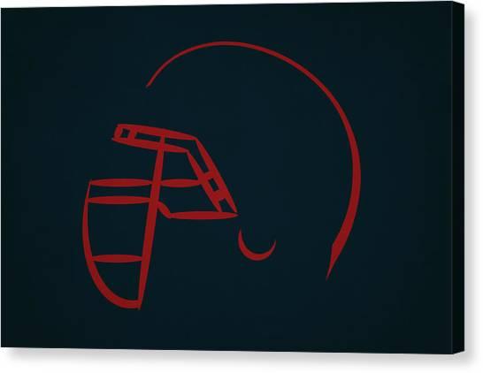 Houston Texans Canvas Print - Houston Texans Helmet by Joe Hamilton