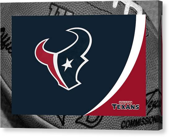 Houston Texans Canvas Print - Houston Texans by Joe Hamilton
