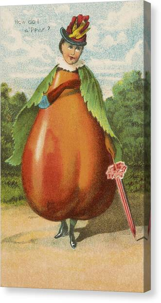 Vegetable Garden Canvas Print - How Do I A Pear by Aged Pixel