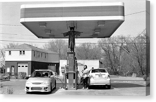How Do You Pump Gas Canvas Print by Chris Luechung