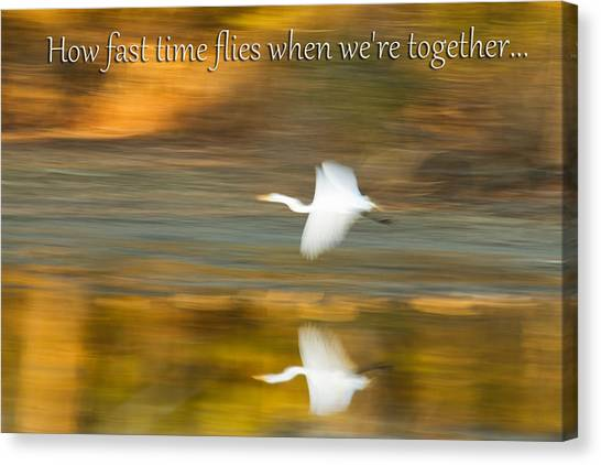 How Fast Time Flies When We're Together Canvas Print by Jeff Abrahamson