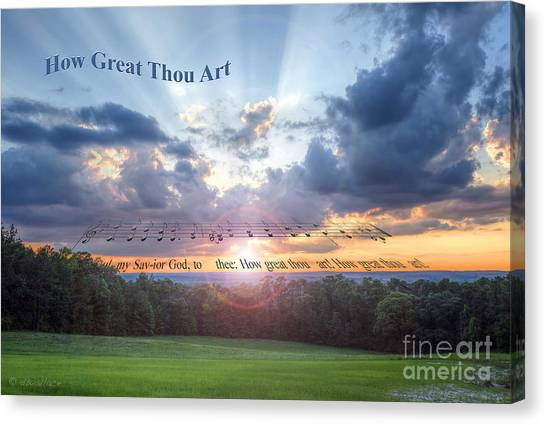 How Great Thou Art Sunset Canvas Print