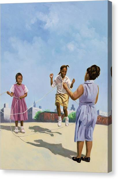 Jump Rope Canvas Print - How High by Colin Bootman