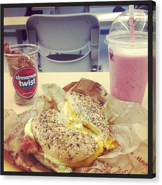 Smoothie Canvas Print - How I Spend My Time In Class! #hungry by Michaaellaaa Farrell
