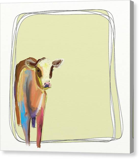 Animals Canvas Print - How Now by Cathy Walters