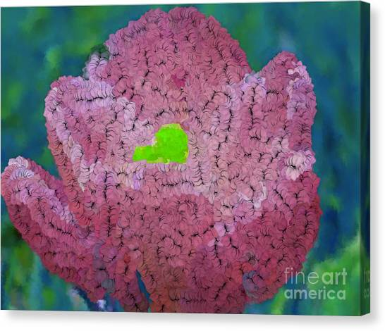 How Things Were Teal Pink Neon Green Canvas Print by Holley Jacobs