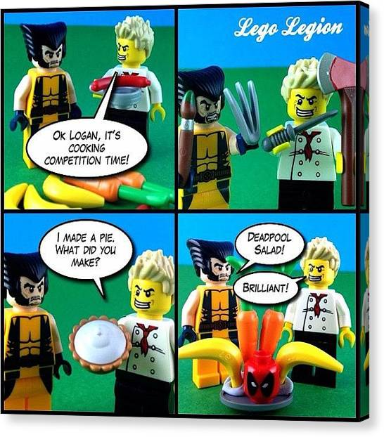 The Legion Canvas Print - How To Make A Deadpool Salad by Lego Legion